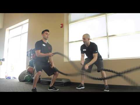 High Intensity Interval Coaching (HIIT): Kettlebell Swings and Battle Rope