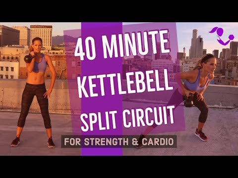 40 Minute Kettlebell Fracture up Circuit Exercise For Strength & Cardio