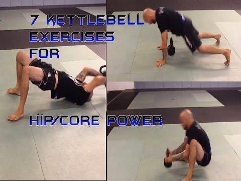 7 BJJ/MMA Explicit Kettlebell exercises for Hip/Core energy