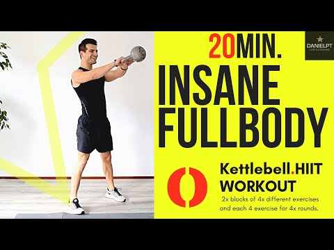 20 minute FULLBODY Kettlebell HIIT WORKOUT | HOME WORKOUT