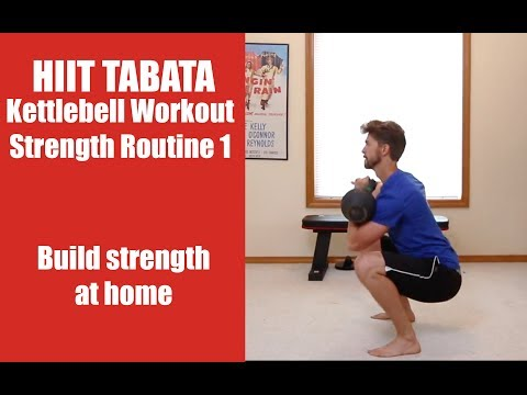 HIIT Tabata Kettlebell Workout: Strength Routine 1