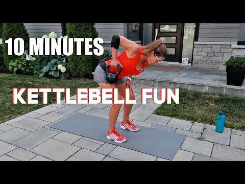 10 MINUTE KETTLEBELL WORKOUT WITH FUN COMBOS