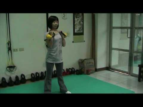 Double kettlebell workout for girls folks