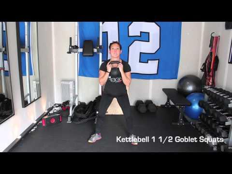 Kettlebell 1 1/2 Goblet Squats – Reign Fitness & Performance