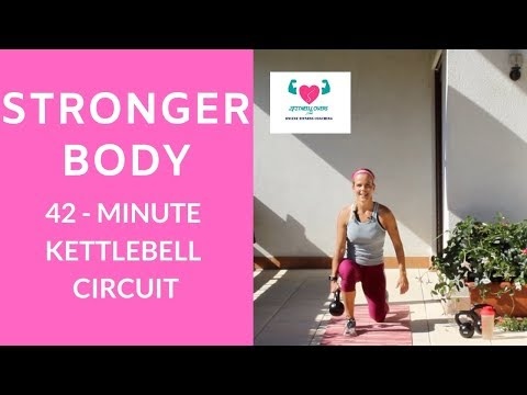 Stronger Body  I 42-Minute Kettlebell Workout With Tune For Residence Health