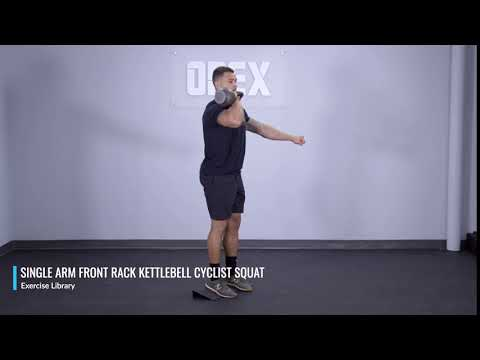 Single Arm Entrance Rack Kettlebell Cyclist Squat – OPEX Mutter Library