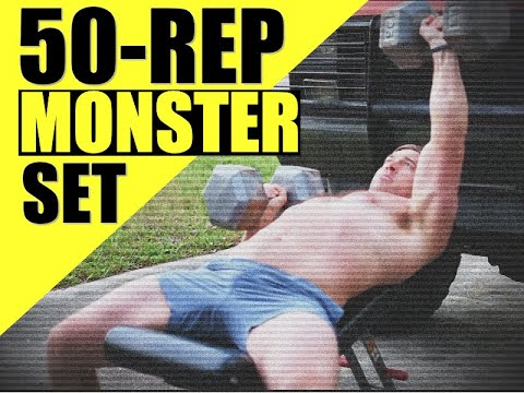 """MONSTER Maker"" Workout [50 Rep Total Body Dumbbell & Kettlebell Routine 