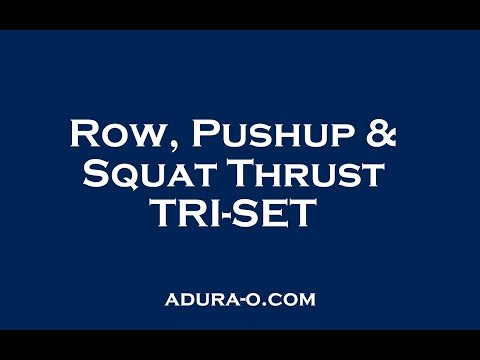 STRENGTH TRI-SET – Kettlebell Row | Push Up | Squat Thrusts
