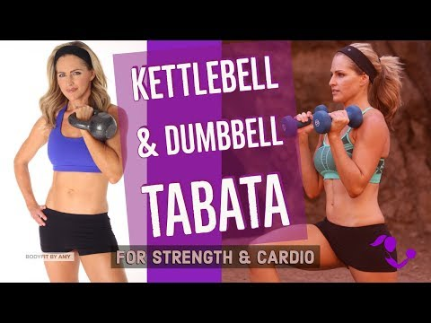 35 Minute Kettlebell Dumbbell Tabata Pudgy Physique Workout for Energy and Cardio