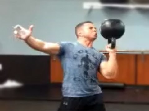 Ed Tessel – forty eight kg Kettlebell Bottom Up Press