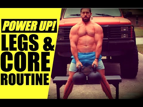 9 Minute Kettlebell Exercise for EXPLOSIVE Legs & POWERFUL Core | Chandler Marchman