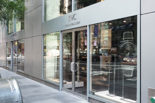 IWC's flagship multi-level NYC boutique is on the corner of 54th and Madison. (535 Madison Ave)