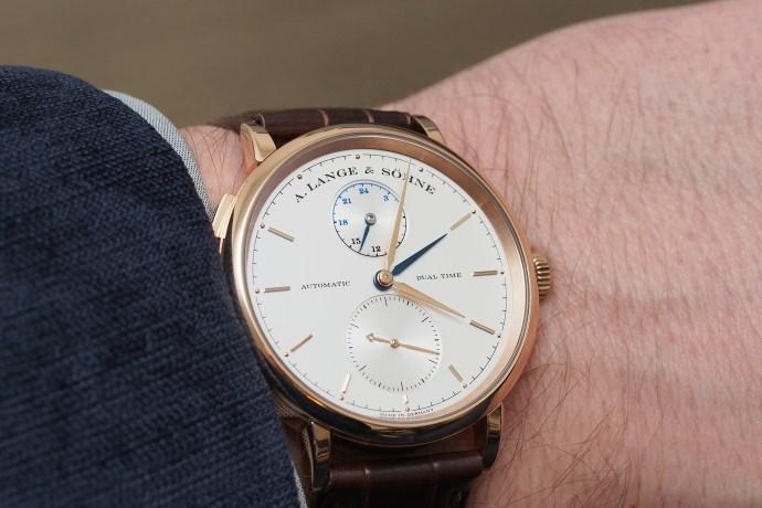 Lange Saxonia Dual Time wristshot