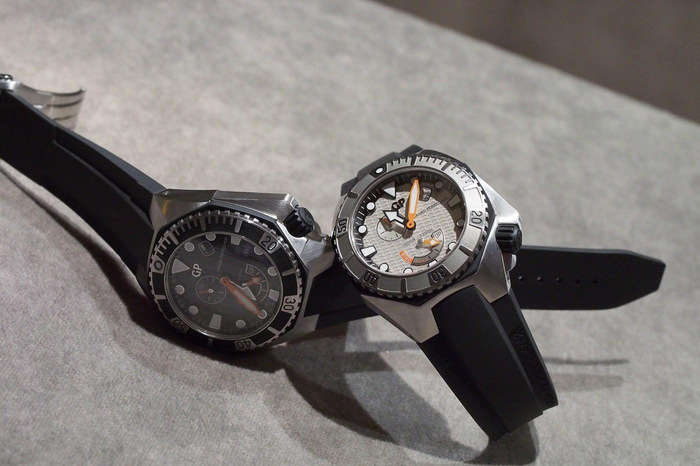 Girard-Perregaux Sea Hawk light gray and black dials