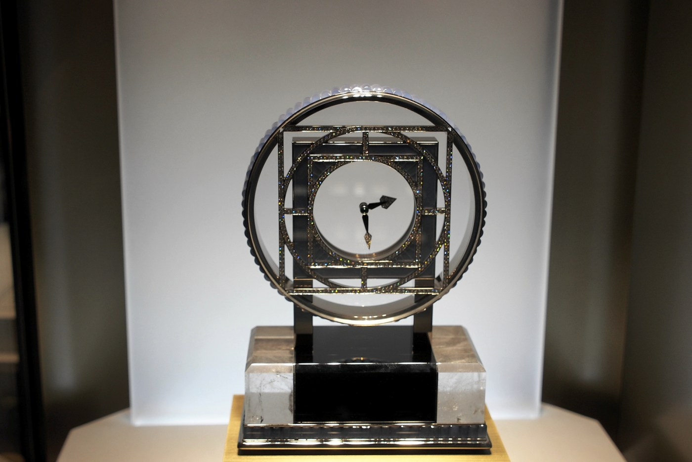Cartier Mysterious clock on display at SIHH 2013
