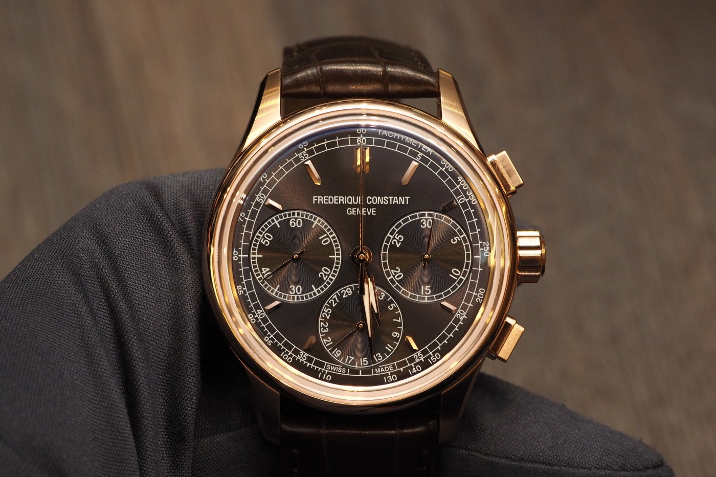 Frederique Constant Flyback Chronograph Manufacture rose gold