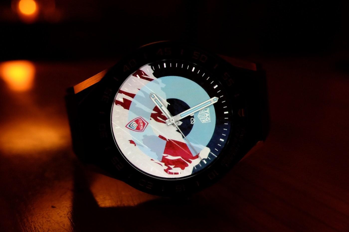 Colorado Rapids MLS TAG Heuer Connected Modular 45 watch dial