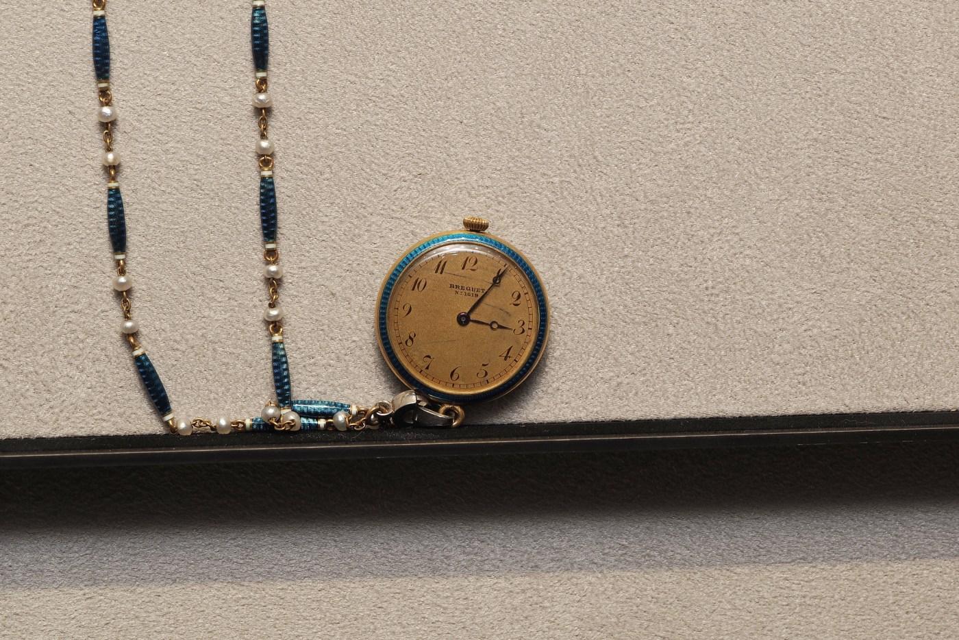 Breguet Pendant watch on display at the Breguet Museum of Paris