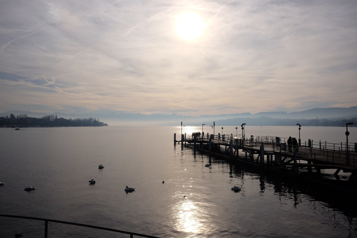 Lake Zurich a short walk from the Beyer Museum and Breguet boutique