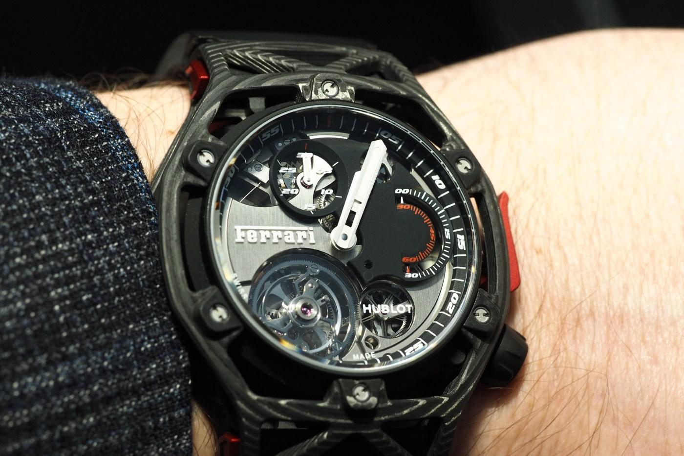 Techframe Ferrari Tourbillon Chronograph Carbon wristshot