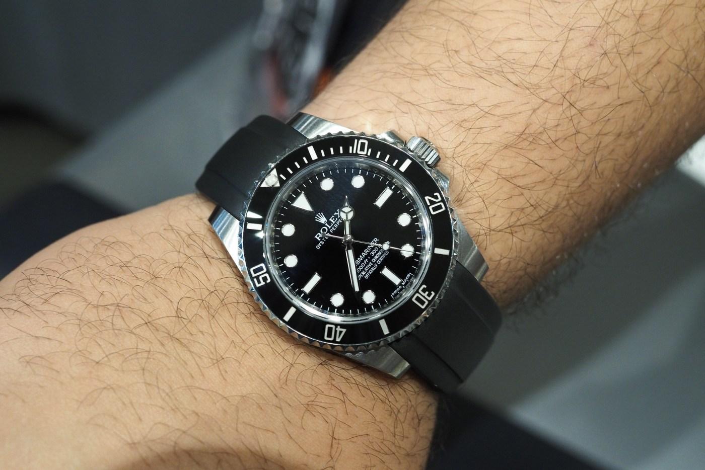 Everest Rubber Watch Strap on Rolex Submariner