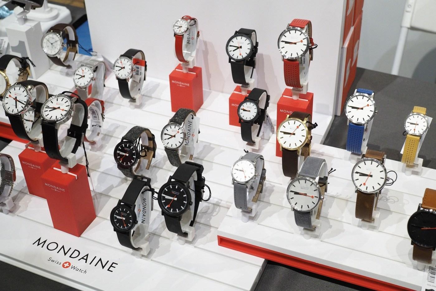 Mondaine watch display