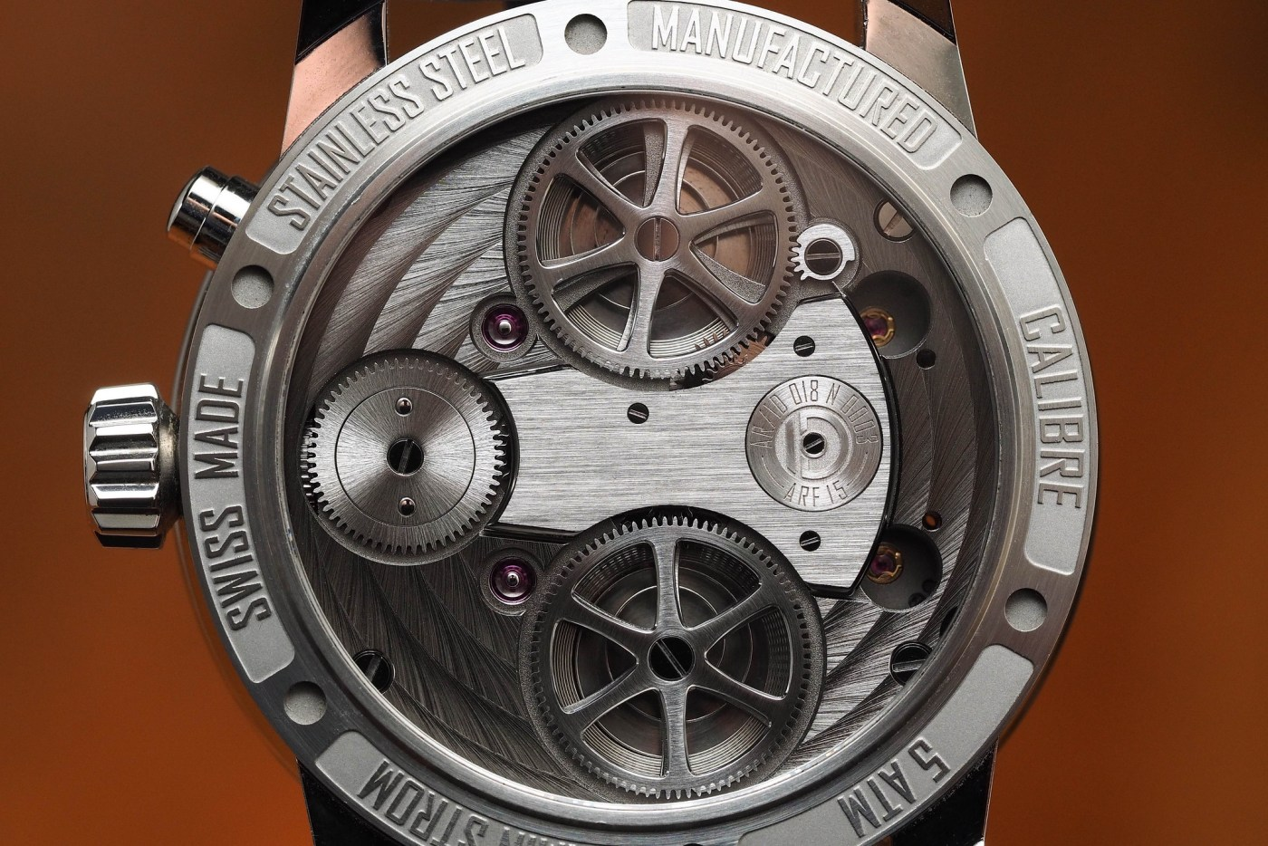 Armin Strom Mirrored Force Resonance stainless steel caseback