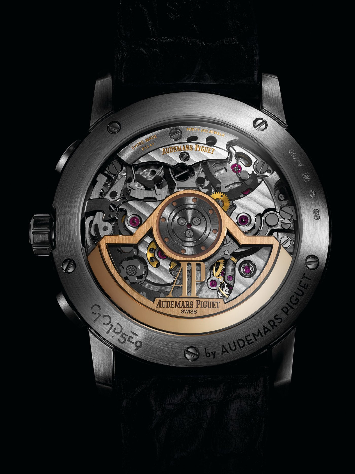 Audemars Piguet caliber 4401 in-house integrated chronograph with column-wheel, vertical clutch, and 70-hour power reserve