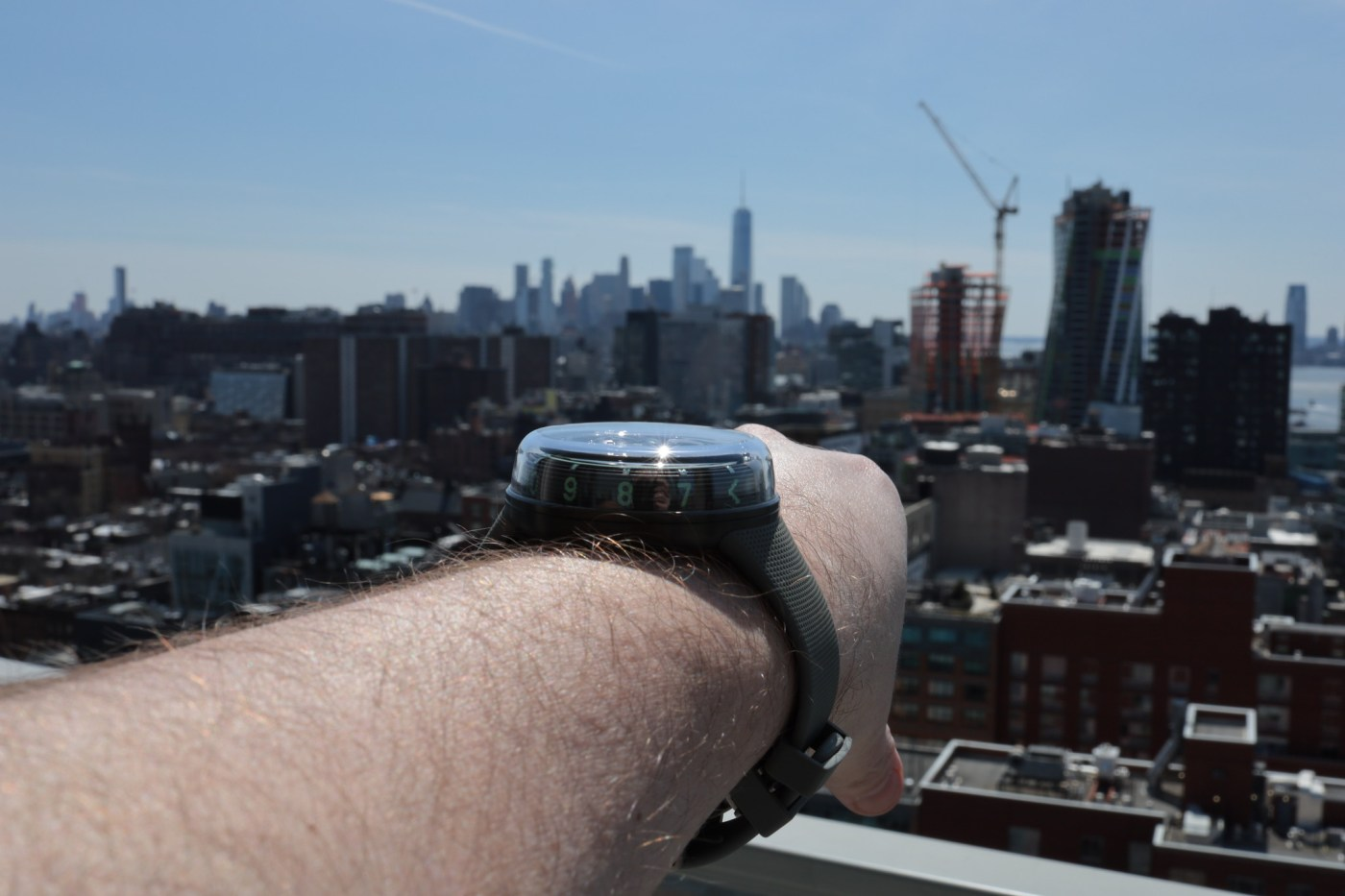 HYT H1.0 with Chelsea and the Manhattan South facing Skyline in the background