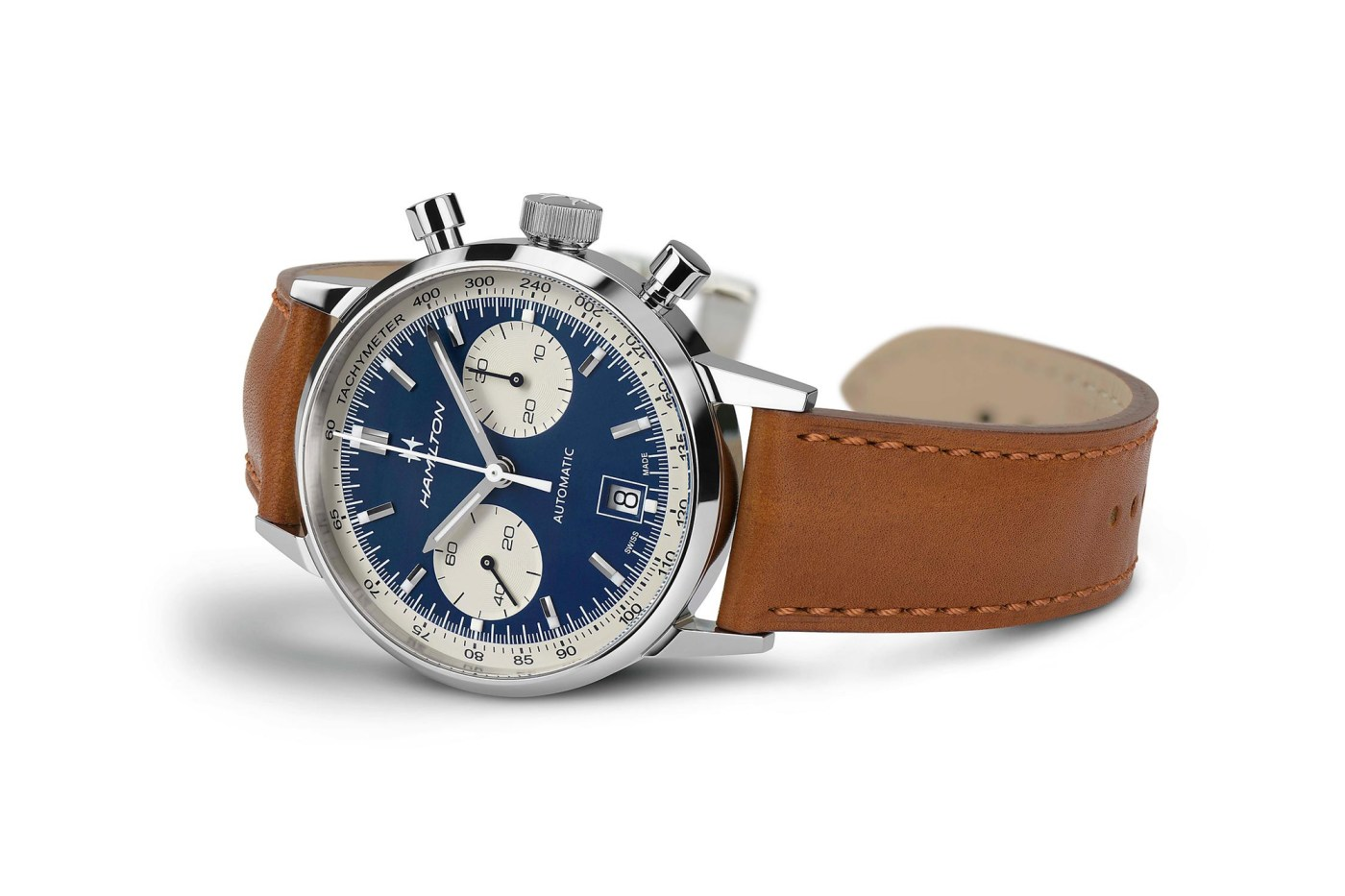 Hamilton Intra-Matic Chronograph blue dial