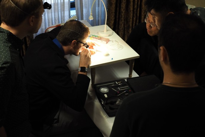 A Day of Watchmaking with the AWCI bench shot