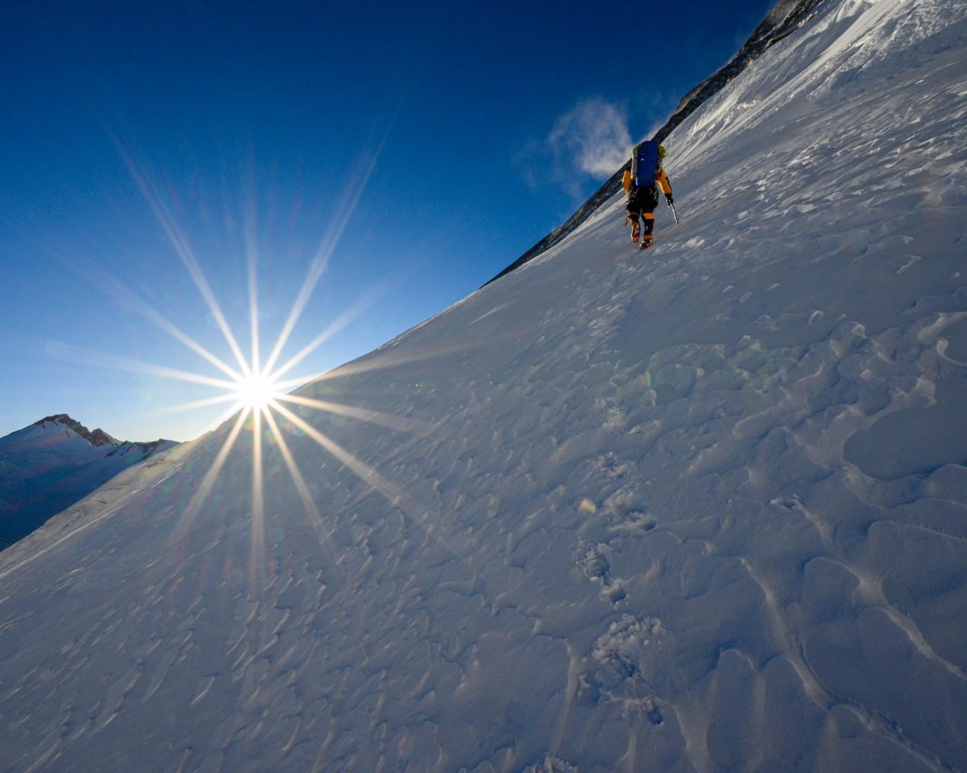 Cory Richards climbing Everest