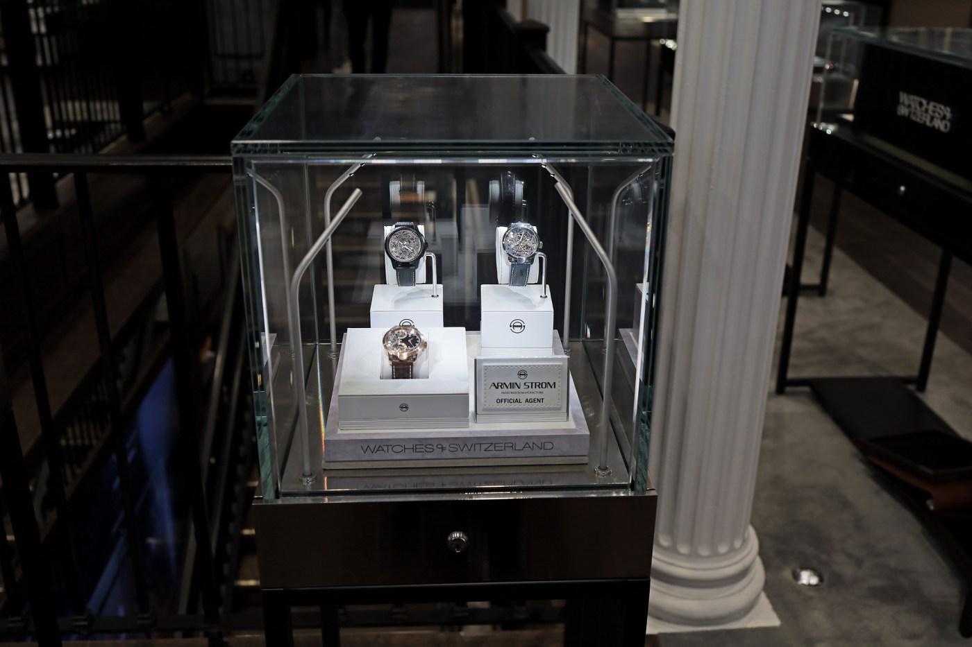 Armin Strom display at Watches of Switzerland SoHo