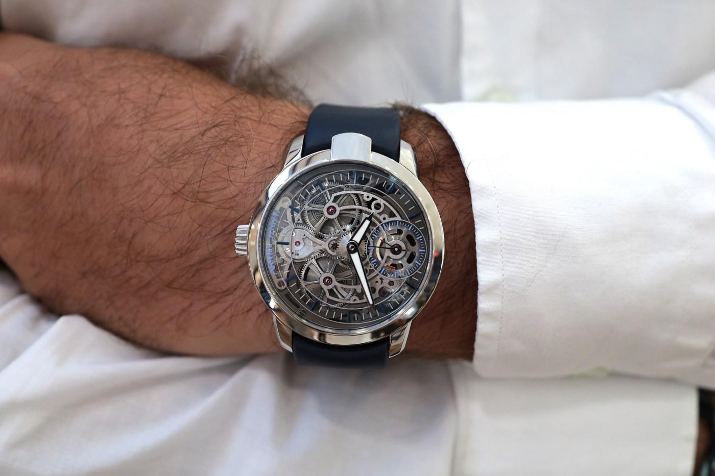 Armin Strom Skeleton watch wristshot