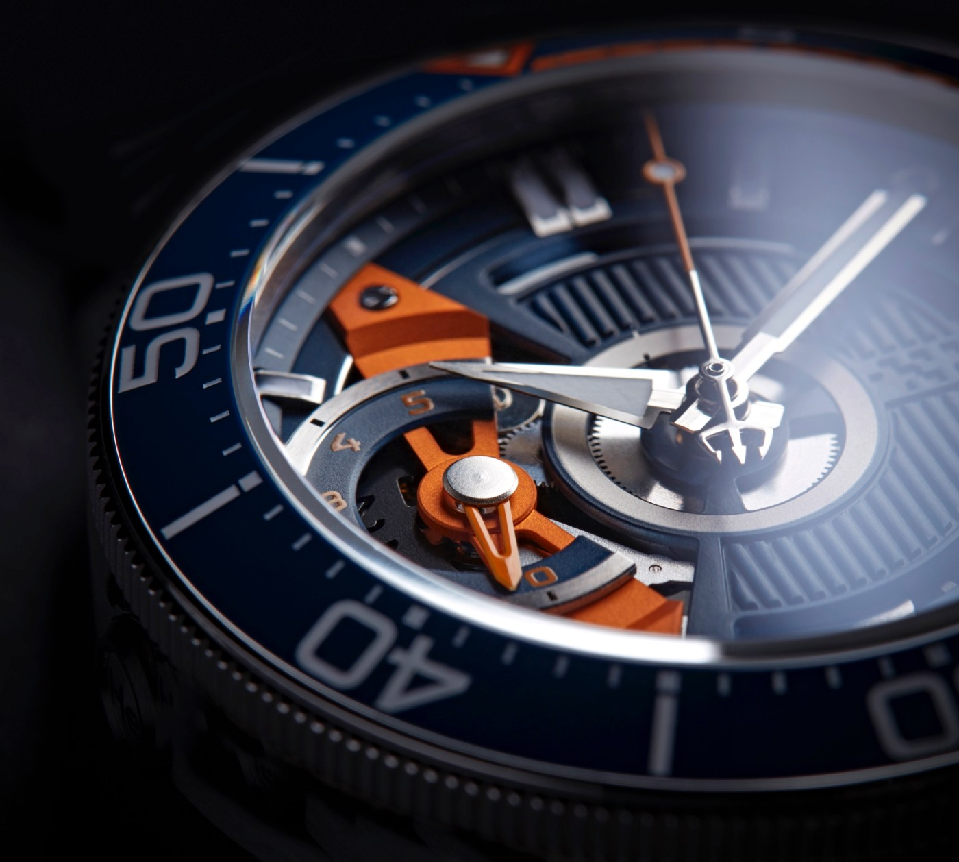 Christopher Ward C60 Apex Limited Edition dial close-up