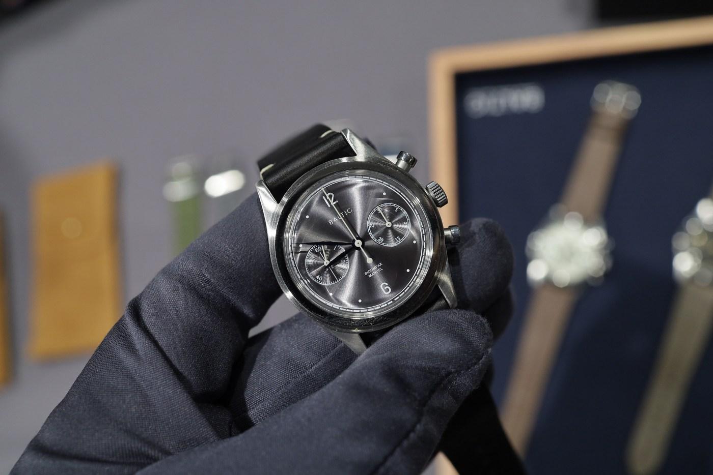Baltic Bicompax 001 Slate gray dial chronograph