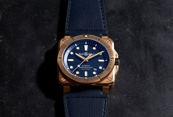 Bell and Ross BR03 92 Diver Bronze Navy Blue