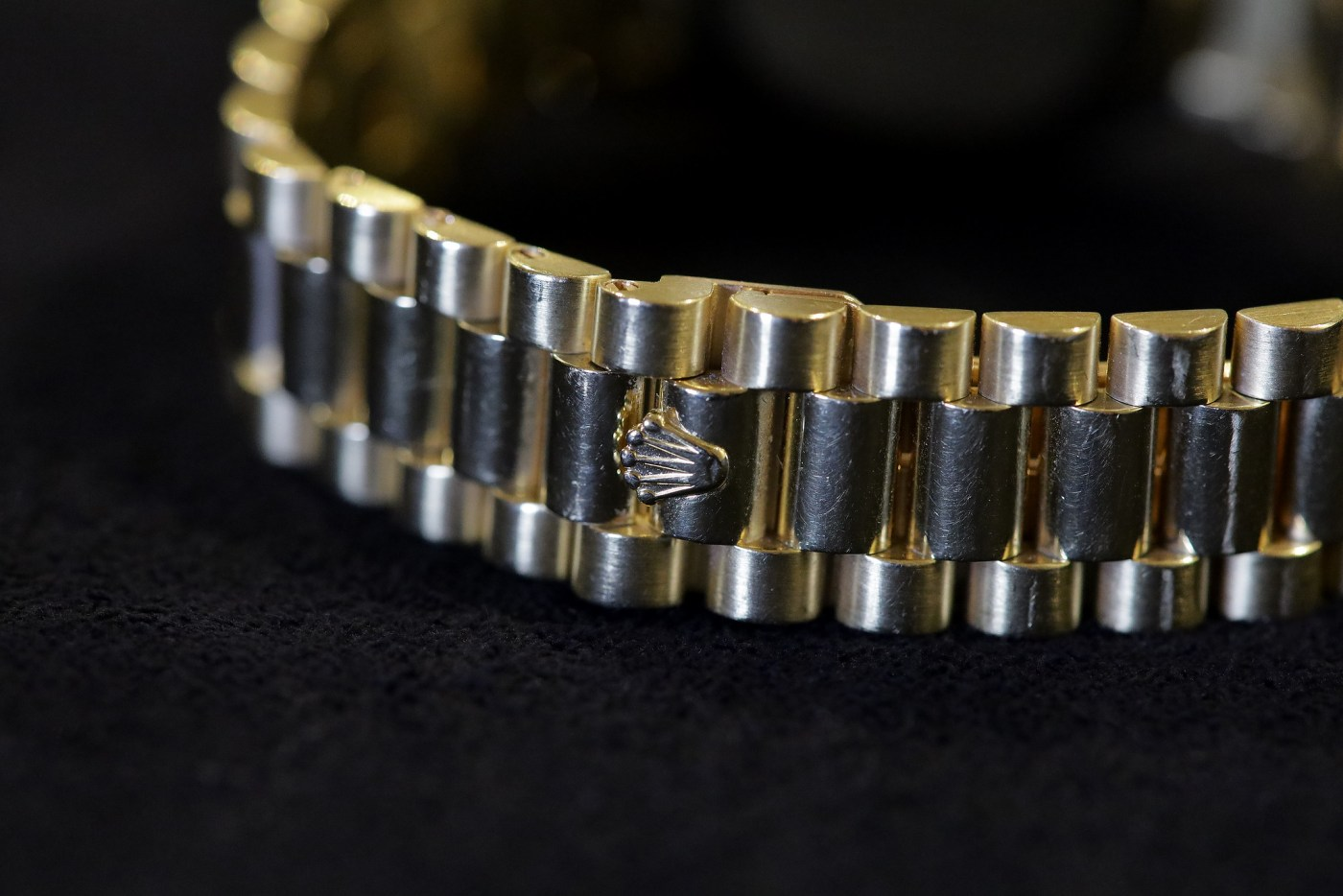 Jack Nicklaus 1967 Yellow Gold Rolex Day-Date Ref. 1803 clasp