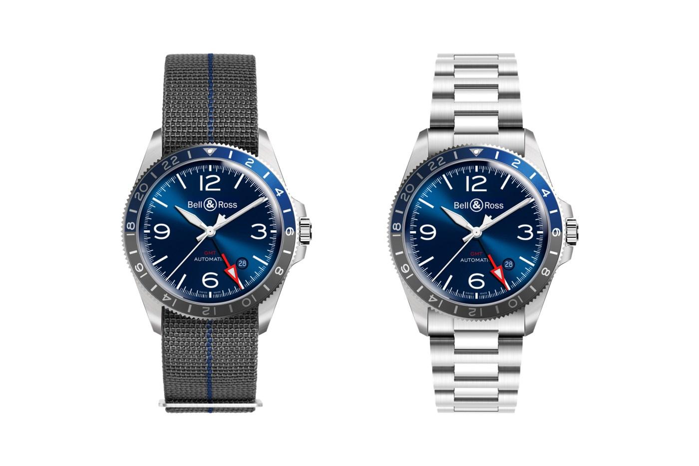 Bell & Ross BR V2-93 GMT Blue strap vs bracelet