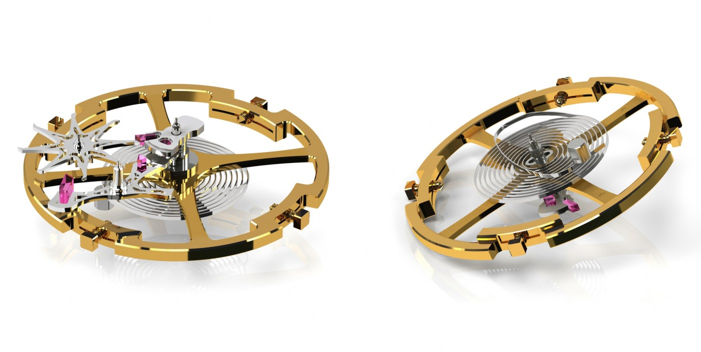 Grand Seiko with patented Dual Impulse Escapement (left) and overcoil with mobile roller (right)