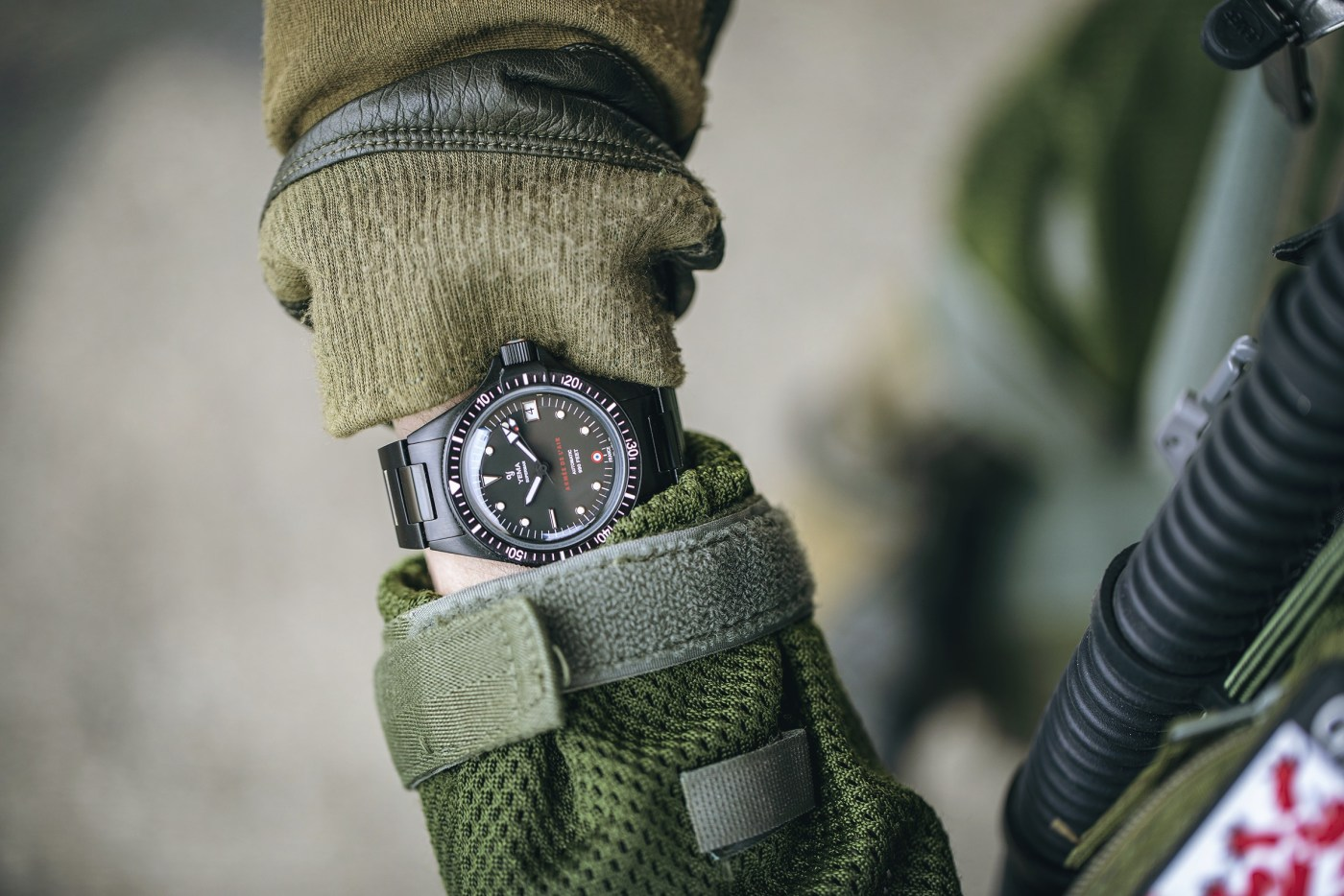 Yema Superman French Air Force Black Limited Edition wristshot