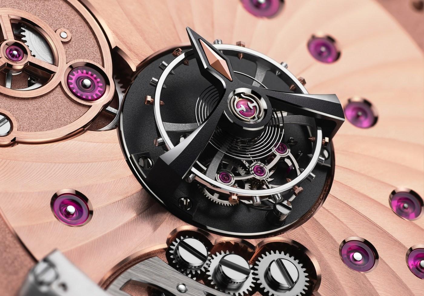 Omega De Ville Tourbillon Master Chronometer Numbered Edition power reserve indicator