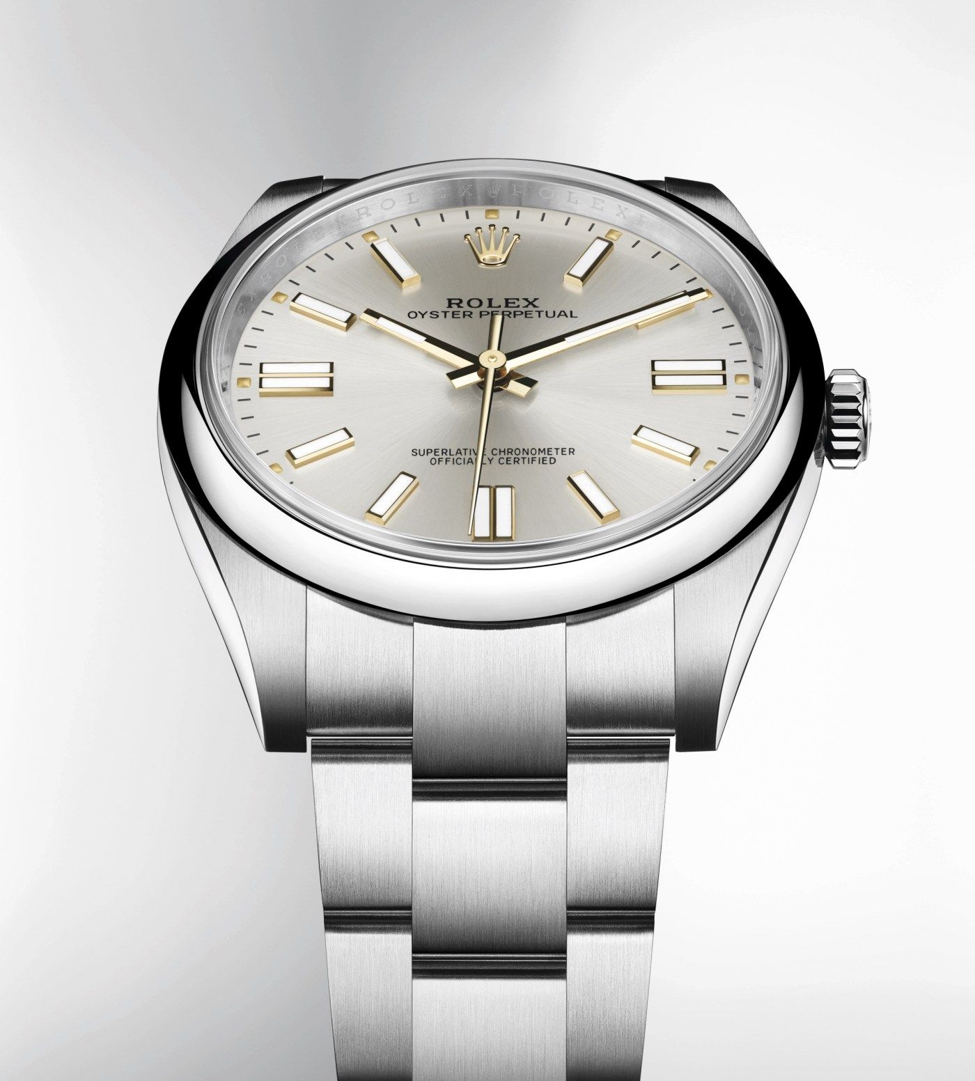 2020 Rolex Oyster Perpetual 41 silver dial