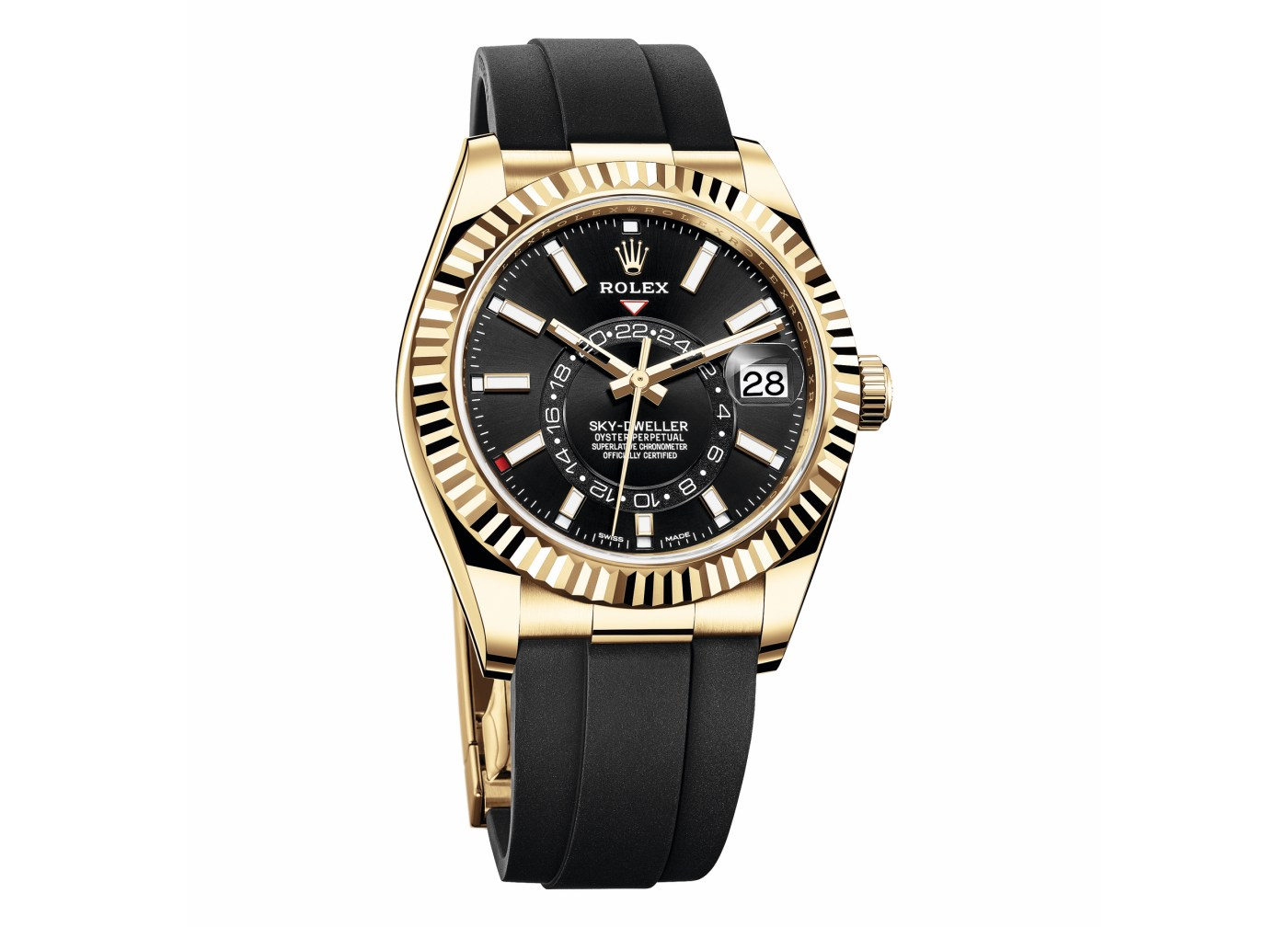 2020 Rolex Oyster Perpetual Sky-Dweller-Yellow Gold with Oysterflex