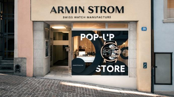 Armin Strom Zurich Pop-Up Facade