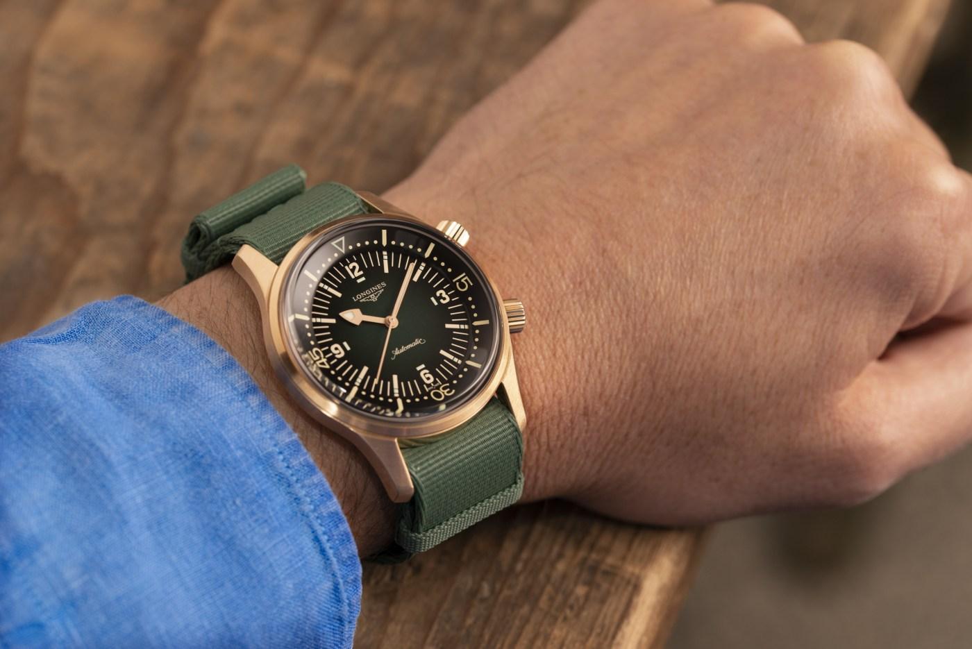 Longines Legend Diver Bronze wristshot