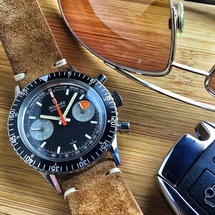 "Nivada Grenchen Chronomaster Aviator Sea Diver (CASD) ""Special Logo"" Ref. 0/4076"