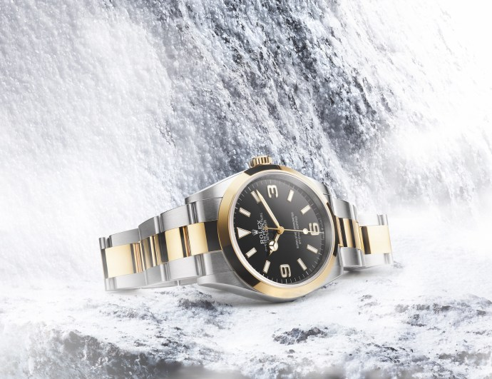 Rolex Explorer 36 mm Oystersteel and yellow gold Ref. 124273