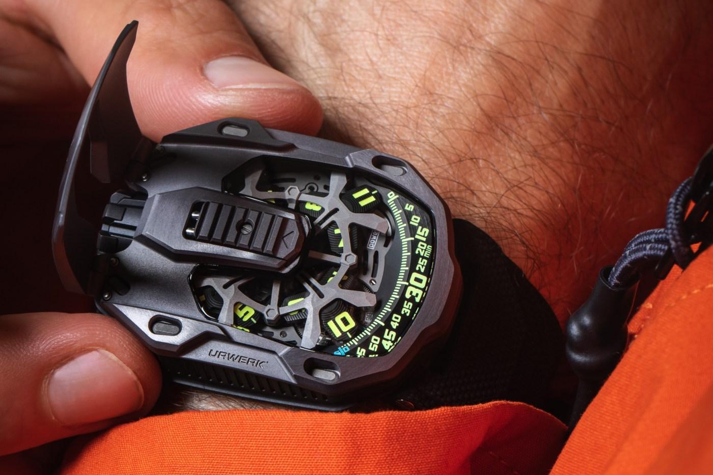 Urwerk UR-105 TTH Tantalum Hull wristshot