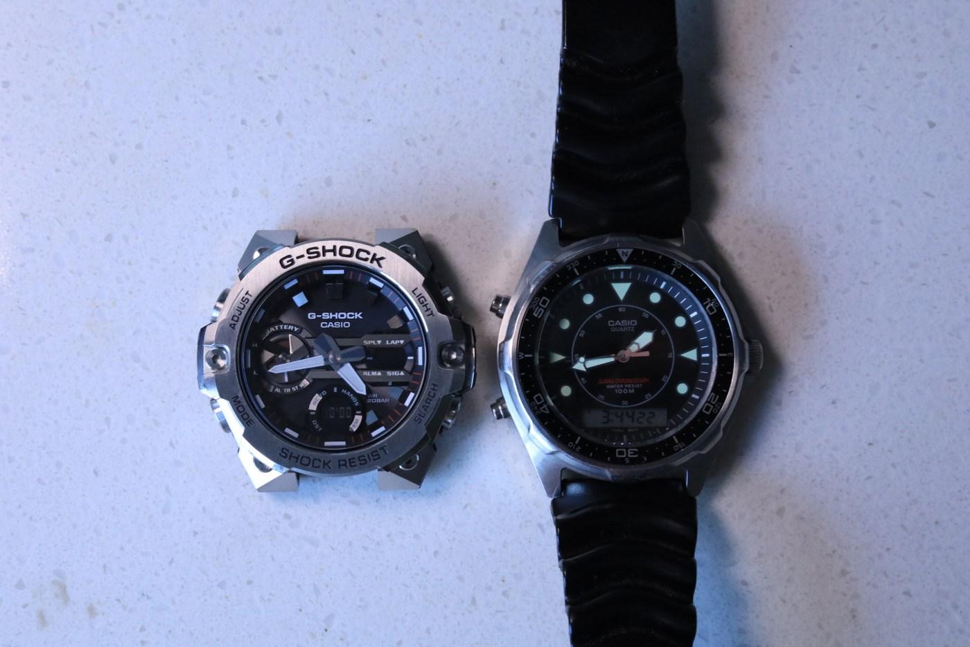 G-Steel GSTB400-1A and Casio AMW320R-1EV